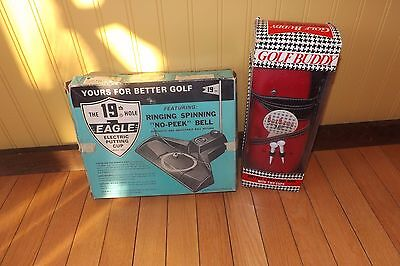 Vintage Golf Eagle Putting cup Electric & Golf Buddy Bottle Carrying Bag New
