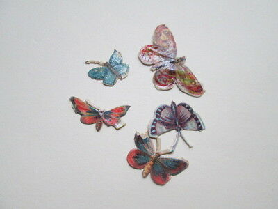 Beautiful antique lot off 16 scraps-BUTTERFLY