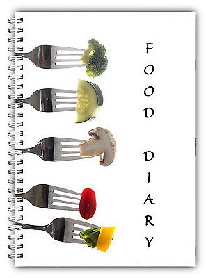 A5 Fruit Veg Diet Diary, Slimming Tracker, Food Diary, Weight Loss Journal Forks