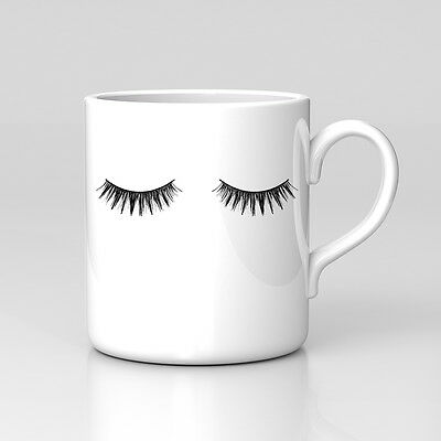 Eyelashes Valentines Gift Girlfriend Funny Quote Work Cup Coffee Tea Mug Cute