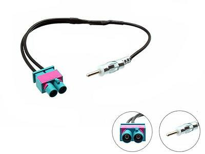 Twin Fakra DIN Antenna Adapter for car stereo CT27AA51