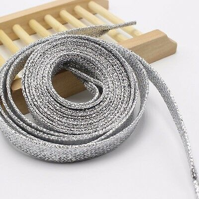 Lacci  Colorati Glitter, Shoe laces Metallic  Silver Argento