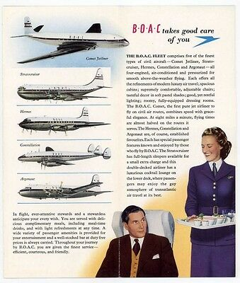 BOAC VINTAGE FLY TO CANADA BROCHURE..1950's MINT CONDITION