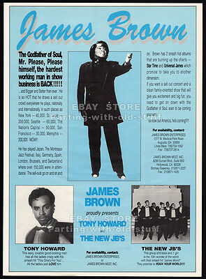 JAMES BROWN Enterprises__Original 1993 Trade Print AD/ poster__Godfather of Soul