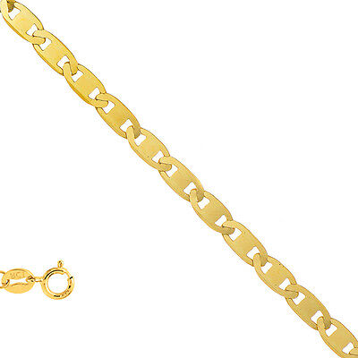 10k Solid Yellow Gold 1.2mm Mariner Chain Necklace 7 10 16 18 20
