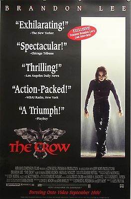 The Crow 26x40 Video Release Movie Poster Brandon Lee