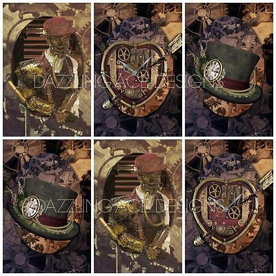 12 Steampunk Cogs Toppers Ideal Cardmaking, Scrapbooking Papercraft
