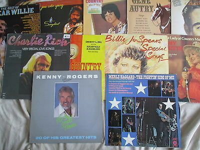 Job Lot 14 Country LPs Gene Autry, Merle Haggard, Kitty Wells, Bobby Bare