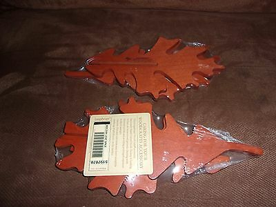 Longaberger WoodCrafts Oak 3-D Leaf - Spice