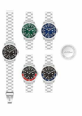 5 X Mens Designer Diving Style Stainless Steel Watch Business Opportunity Sale
