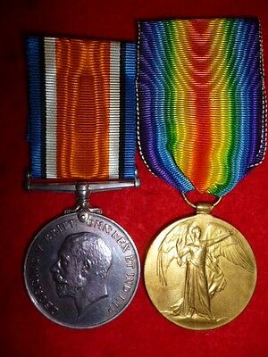 WW1 British War Medal Pair to The Royal Highlanders, Black Watch - Lawson