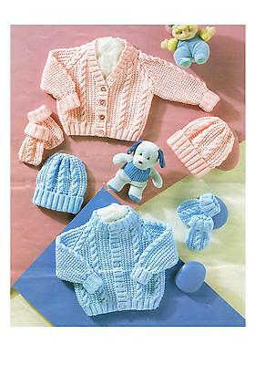 Knitting Pattern Premature + Baby Cardigans Hats PATTERN ONLY DK 12/22 sc4