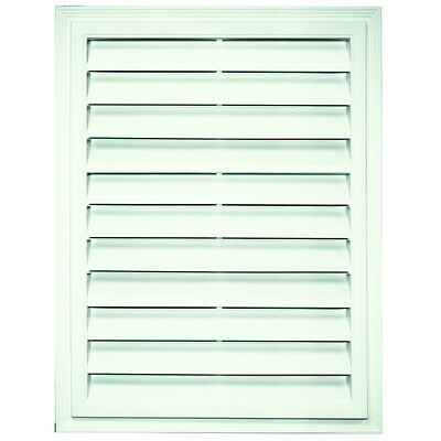 Builders Edge 18-in x 24-in White Rectangular Gable Vent