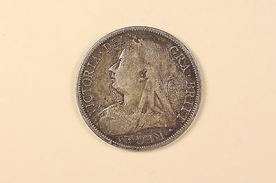 Great Britain 1897 1/2 Half Crown Silver Coin Veiled Head