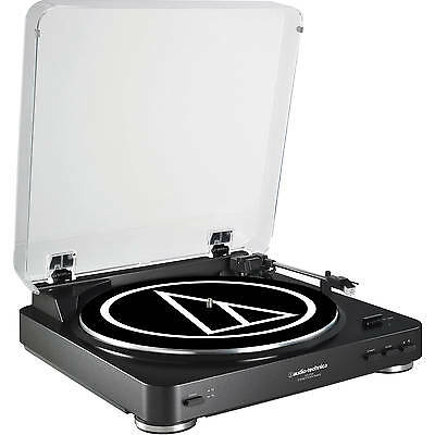 Audio-Technica AtLP60 Black Automated Turntable Belt-Drive Phono Preamp ATLP60BK
