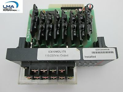 GE FANUC IC610MDL175 OUTPUT MODULE (8 points) 115/230Vac  *** NEW