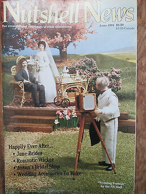 Nutshell News Dollhouse How to Make Wedding Cake; Candles; Pine Welcome Bench