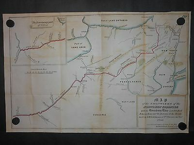 Northern America Colonies 1768 Map Indian Boundary Lines New York Virginia H/C