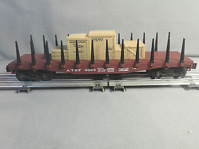 Lionel O Scale 6-9823 ATSF Flat Car Stakes with load (1975) (RED) New in Box