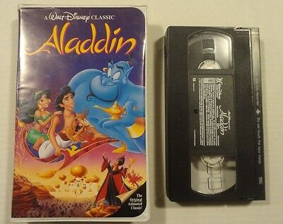 Rare Black Diamond Walt Disney The Classics Aladdin! VHS Cartoon Movie! Lot 2