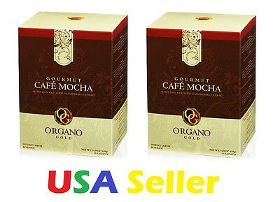 2 BOXES Organo Gold CAFE MOCHA - SHIPS EXPEDITE - Delivered in 1-3 Business days