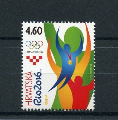 Croatia 2016 MNH Olympic Summer Games Rio 2016 1v Set Olympics Sports Stamps