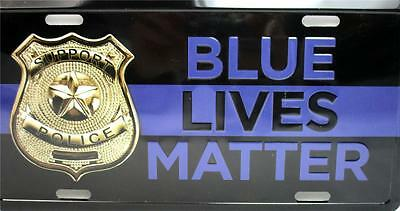 Support Police Blue Lives Matter Car Truck Auto Tag Novelty Metal License Plate
