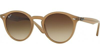 Ray Ban RB2180 616613 Round Beige Frame Brown Gradient 49mm Lens Sunglasses