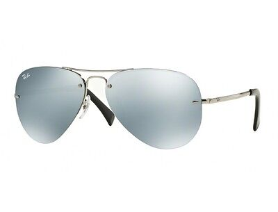 Ray-Ban RB3449 003/30 Silver Frame Silver Mirror 59mm Lens Sunglasses