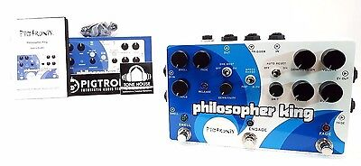 Pigtronix Philosopher King Compressor Sustain Guitar Effect Pedal & Accessories