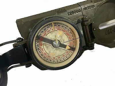 Vietnam Tritium U.S. Issue Lensatic Compass w/case