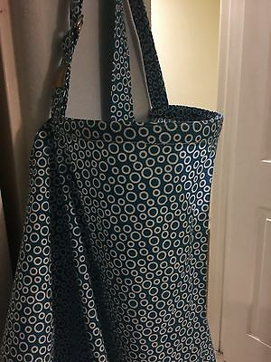 NEW  >NURSING COVER like hider* BREASTFEEDING Cover Up Blu CIRCLES XL