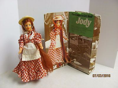 1975 The Country Girl Doll Jody Original Dress Hat Boots Box 9 In. Poseable