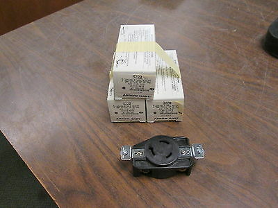 Arrow Hart Locking Single Receptacle 6220 20A 277V 2P 3W *Lot of 3* New Surplus
