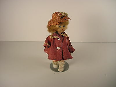Ginger Ginny Doll Straight Leg Vintage With Tagged Dress Straw Hat Fits Wendykin