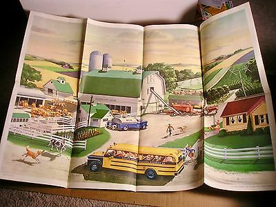 1961 National Dairy Council Large Poster Print & Record Dairy Farm, Cows,