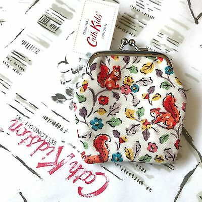 Genuine CATH KIDSTON KIDS Small Squirrel Clasp Coin Purse - New with Tags