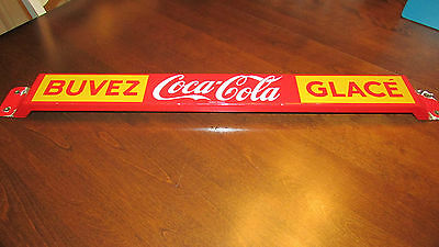 Vintage Coca Cola Pushbar French - Made In Canada