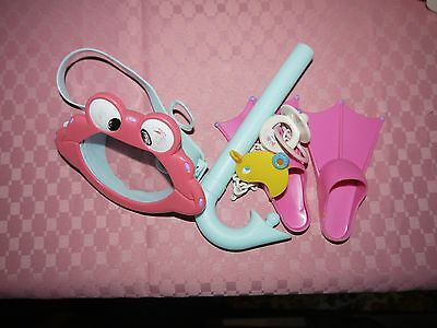 baby born doll bits group 5 flippers masy snorkel