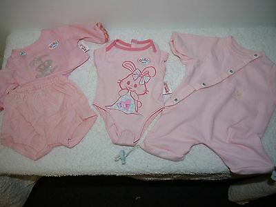 baby born doll clothes original 2 onsesie summer winter plus pink shorts and top