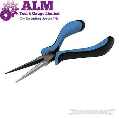 Silverline Needle Nose Mini Pliers 155mm Hand Tool, Long Nosed Jaws