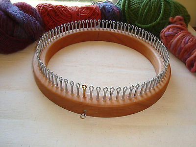 Small Gauge Hat Knitting Loom - 80 Peg - Adult Hat Size  - Cottage Looms