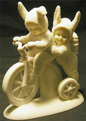 """DEPT 56 SNOWBUNNIES """"TRICYCLE BUILT for TWO"""""""
