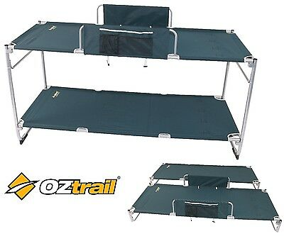 NEW Oztrail DELUXE DOUBLE BUNK Bed - Stretcher Bed - Great for CAMPING CARAVAN