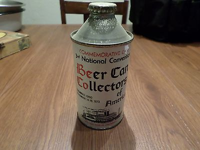 Rare Vintage  BCCA 3rd Nat. Canvention Commemorative 207-32  Cone Top Beer Can