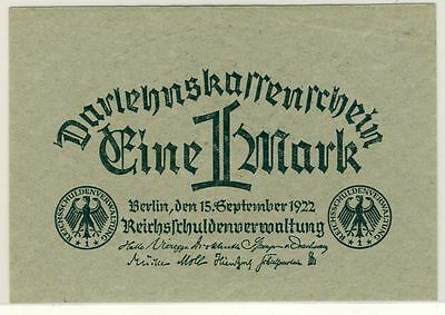 Germany 61a 1922 1 Mark  Unc