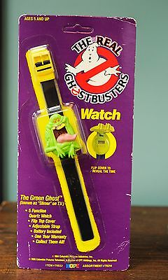 New On Card The Real Ghostbusters Flip Watch Green Ghost Slimer Vintage 1989 Noc