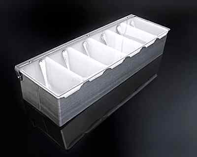 Food Storage Container Lid Tray Condiment Dispenser Stainless Steel Compartment