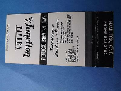 The Junction Tavern Hamilton Largest Discotheque Matchbook Vintage Disco Ontario
