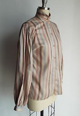 Women's Vintage Classic 1980's GEOFFREY BEENE Blouse with LONG PUFF SLEEVES!